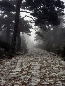 Calzada Romana en la sierra de la Fuenfria de Madrid