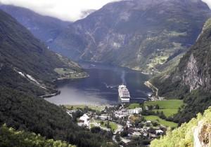 Vista de un Fiordo en Noruega