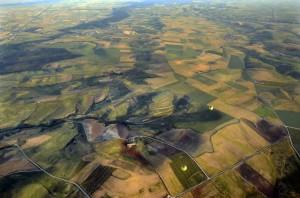 Tierra de Campos a vista de globo